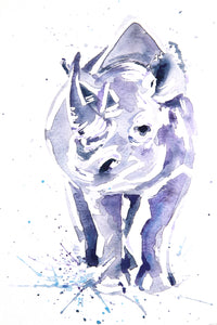 WHITE RHINO (#2) watercolour