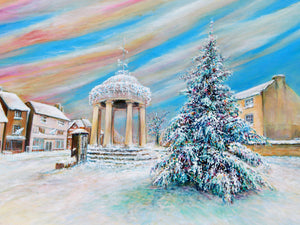 I'm Dreaming of a white Tickhill Christmas 2020 Original Acrylic Painting