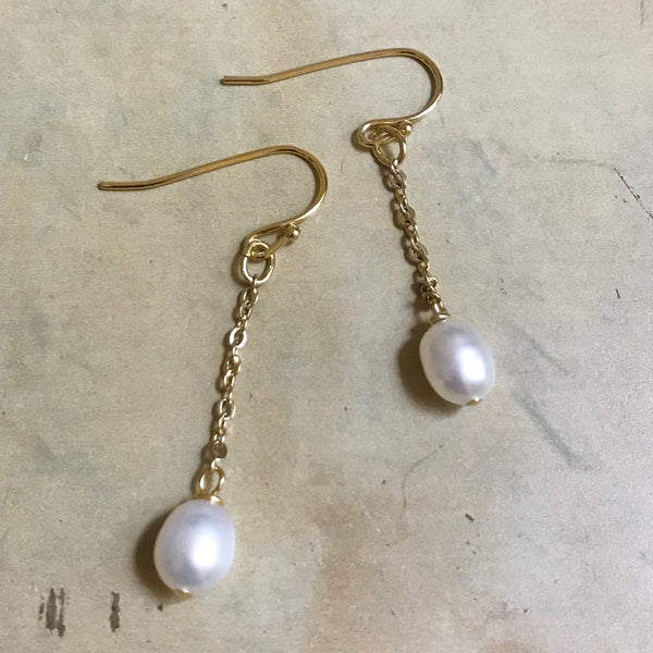 How to make a pearl chain earrings