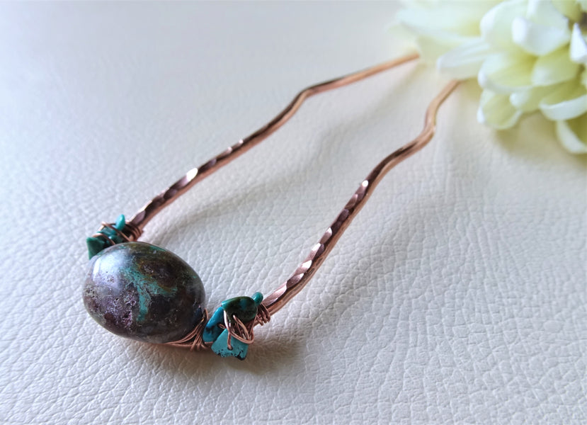 Last one! Chrysocolla Hair Stick