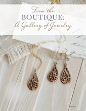 Load image into Gallery viewer, Rose Gold Filigree Teardrop Pendant, Floral Jewelry