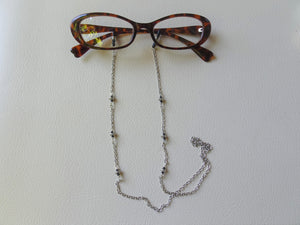 Silver Eyeglasses Holder, Eyewear Jewelry, Sunglasses Lanyard.