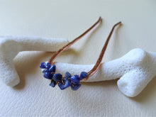 Load image into Gallery viewer, Copper Hair Fork with Lapis Lazuli, Copper Bun Holder.