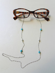 Turquoise Eyewear Jewelry, Eye Glasses Chain, Sunglasses Lanyard