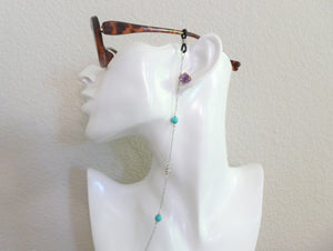 Turquoise Eyewear Jewelry, Eye Glasses Chain, Sunglasses Lanyard.