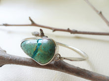 Load image into Gallery viewer, Ribbon Turquoise Bangle Bracelet, SV925.