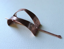 Load image into Gallery viewer, Handforged Copper Hair Slide, Boho-Chic Hair Cuff