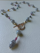 Load image into Gallery viewer, Labradorite Lariat Necklace