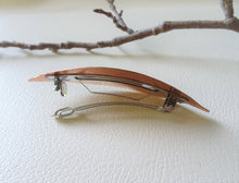 Load image into Gallery viewer, Leaf Barrette, Fall Leaf Copper Hair Clip