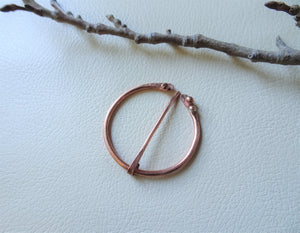 Copper Penannular Brooch, Handforged Celtic Brooch Pin