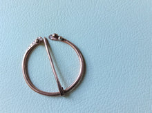 Load image into Gallery viewer, Copper Penannular Brooch, Handforged Celtic Brooch Pin