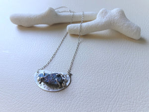 Silver Beans Necklace with Chalcopyrite, Raw Stone Jewelry