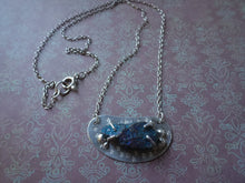 Load image into Gallery viewer, Silver Beans Necklace with Chalcopyrite, Raw Stone Jewelry