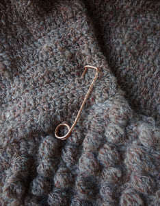 Simple Copper Shawl Pin, Handforged Safety Pin