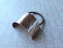 Load image into Gallery viewer, Copper Boho-chic Ponytail Cuff