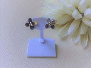 Tiny Silver Flower Studs, Handcrafted Flower Earrings For Her