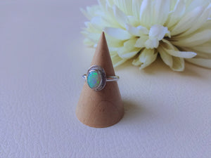 Dainty Opal Silver Ring, Everyday Jewelry, Natural Stone Jewelry