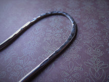 Load image into Gallery viewer, Silver Handforged Hair Stick, Zigzag Hair Pins For Long Hair