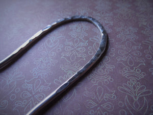 Silver Handforged Hair Stick, Zigzag Hair Pins For Long Hair