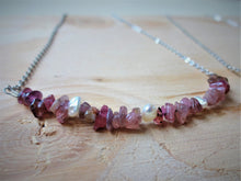 Load image into Gallery viewer, Gemstone Beaded Bar Necklace, Daily Dainty Jewelry For Her