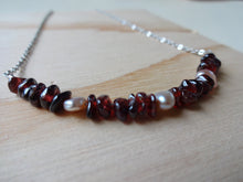 Load image into Gallery viewer, Gemstone Beaded Bar Necklace.