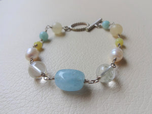Gemstones Beaded Link Bracelet For Small Wrist