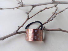 Load image into Gallery viewer, Floral Pony cuff, Copper Hair Ties