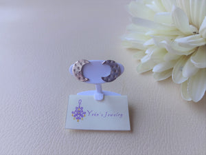 Silver Crescent Moon Studs, Hand Stamped Earrings
