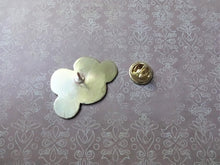 Load image into Gallery viewer, Happy Cloud Lapel Pin, Gold Pin Brooch, Hat Pin, Weather Jewelry
