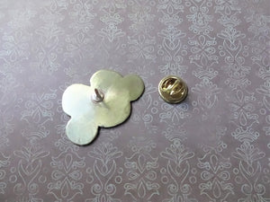 Happy Cloud Lapel Pin, Gold Pin Brooch, Hat Pin, Weather Jewelry.