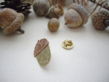 Load image into Gallery viewer, Acorn Pin Brooch, Woodland Fall Accessory, Hat, Shawl Pin.