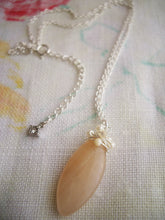 Load image into Gallery viewer, Marquise Peach Quartz Pendant.