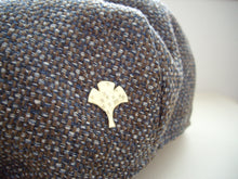 Load image into Gallery viewer, Ginkgo, Leaf Brooch Pin, Hat, Shawl, Sweater Pin, Woodland Accessory.