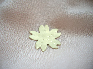 Sakura Pin Brooch, Cherry Blossom Hat Pin, Shawl Pin.