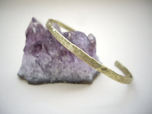 Narrow Brass Cuff, Stackable Cuff Bracelet.