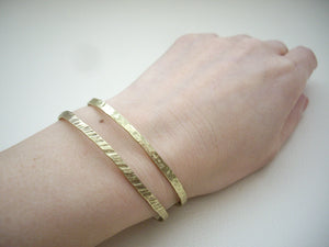 Narrow Brass Cuff, Stackable Cuff Bracelet