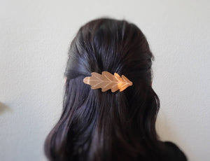 Oak Hair Barrette, Fall Leaf Hair Clip