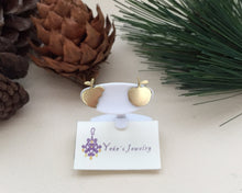 Load image into Gallery viewer, Minimalist Apple Earrings, Gold apple studs