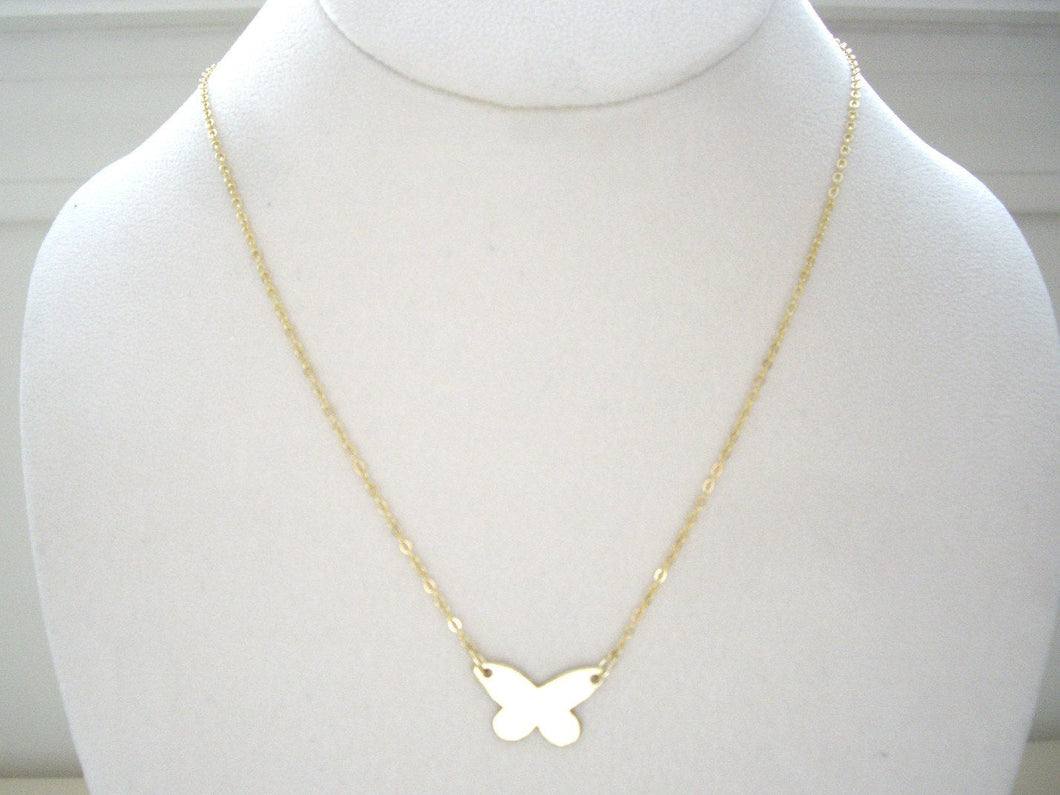 Minimalist Butterfly Necklace, Choose Your Metal