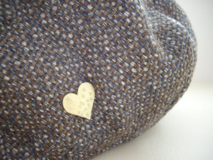 Gold Heart Pin Brooch, Small Brooch, Cute Hat pin