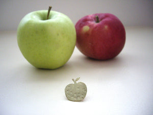 Apple Pin Brooch, For Shawl, Scarf, Hat, Teacher's Gift