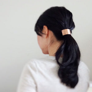 Ponytail Cuff, Metal Hair Cuff, Metal Hair Tie, Copper Pony Tail Holder