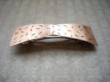 Load image into Gallery viewer, Metal Bow Barrette, Copper Hair Barrette, Rustic Hair Jewelry