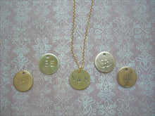 Load image into Gallery viewer, Made To Order Letter/ Number Pendant, Personalized Hand Stamped, Om Jewelry