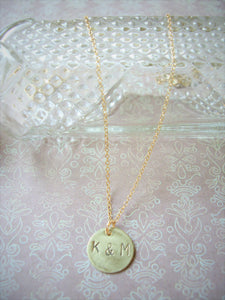 Made To Order Letter/ Number Pendant, Personalized Hand Stamped, Om Jewelry