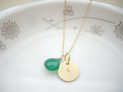 Personalized  Letter Necklace, Alphabet Or Number Jewelry For Her