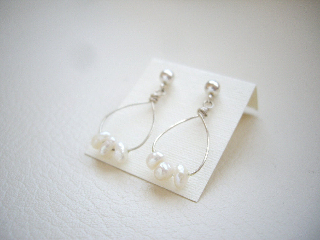 Small Hoop Earrings, Choose Your Stone.