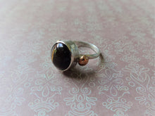 Load image into Gallery viewer, Tiger's Eye Solitaire Ring, Bezel Setting Stone, Sterling Silver Artisan Jewelry, Avant-Garde Statement Ringe