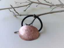 Load image into Gallery viewer, Copper Ponytail Holder, Handforged Metal Hair Tie.