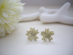 Cherry Blossom Stud Earrings, Sakura Jewelry Gift.